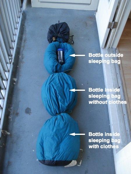sleepingbag3bottles