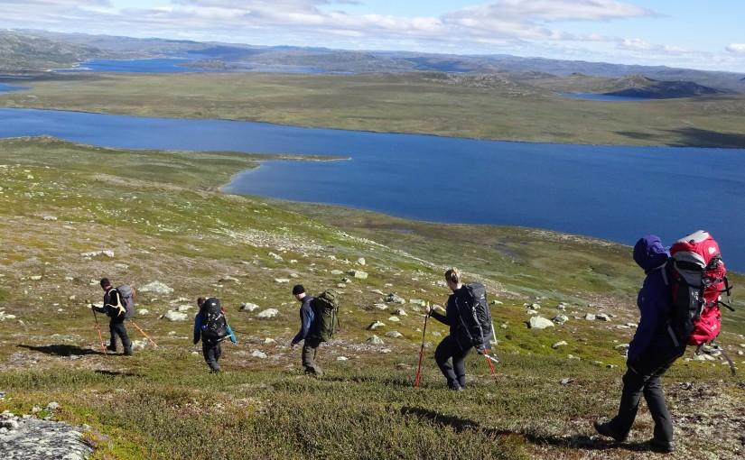 Trek on the Hardangervidda, Norway