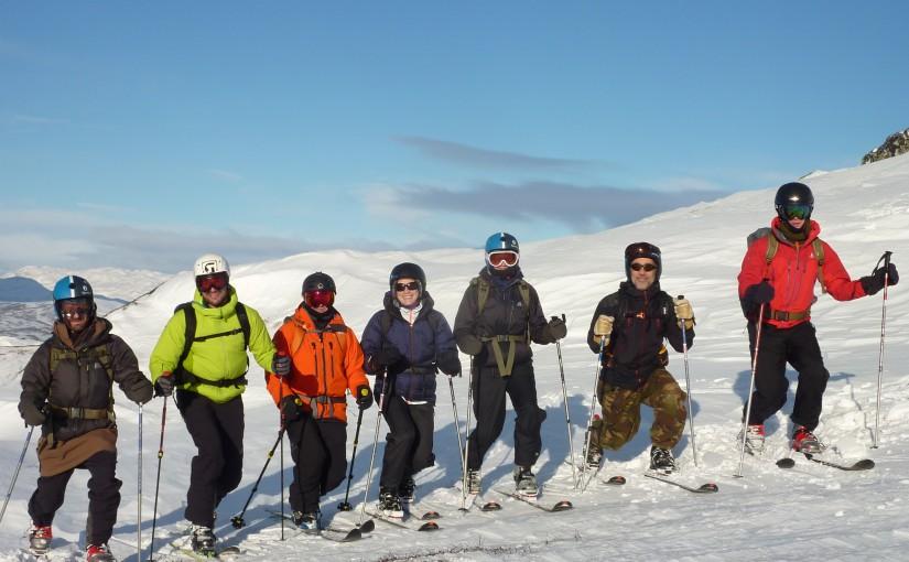 Telemark ski touring course in Rauland, Norway