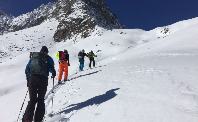 Ski touring course in the Austrian Alps