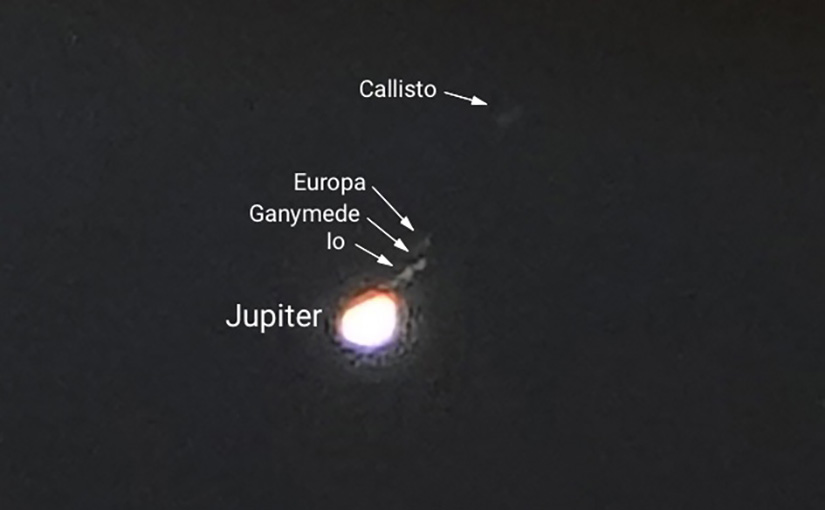 Photographing the moons of Jupiter