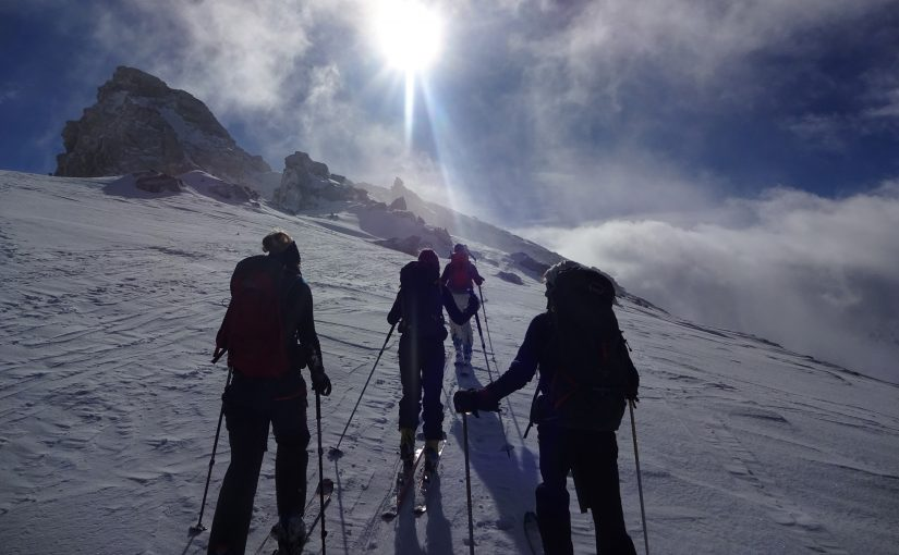 Ski touring in Queyras