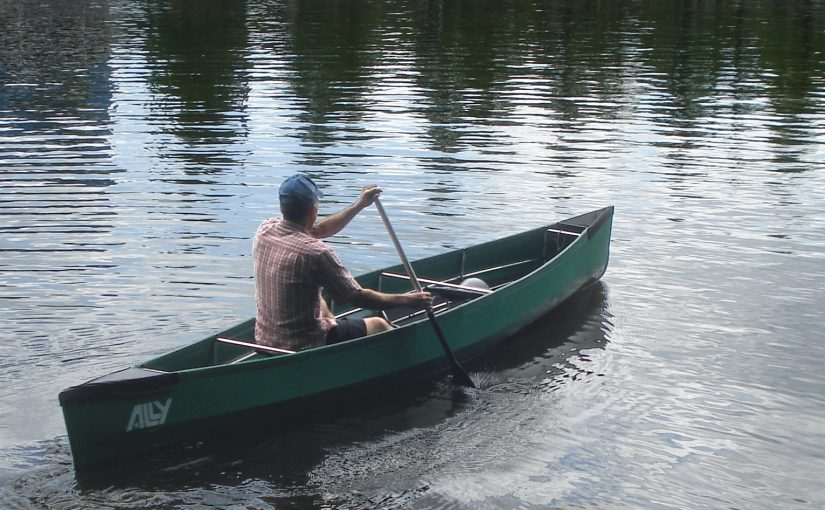 Paddling my new Ally folding canoe