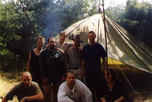 Basic survival course in the Dutch woods