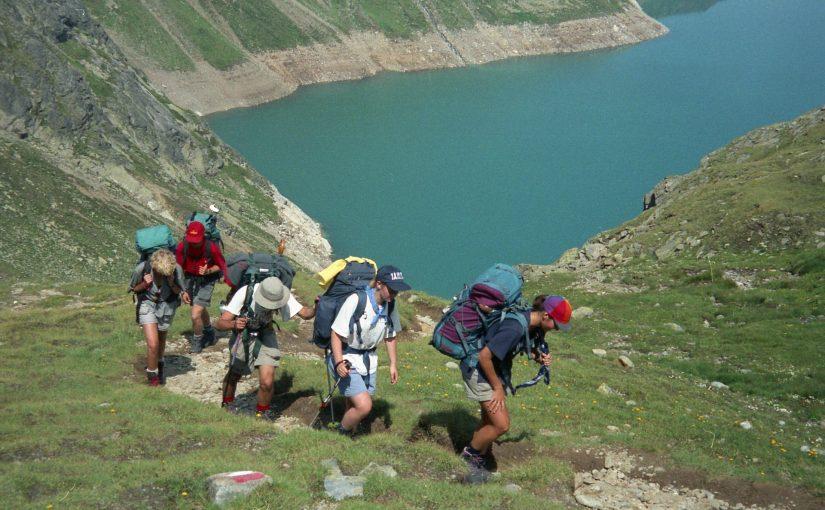 Hiking tour in the Ötztaler Alps, Austria